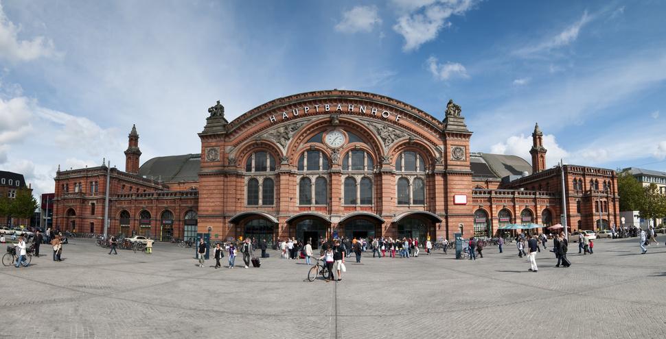 Panoaram des Hauptbahnhofs Bremen