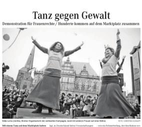 "Presse zu OBR: Presseartikel ""Tanz gegen Gewalt"""