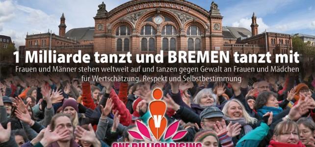 Postkarte: HBF Bremen - One Billion Rising