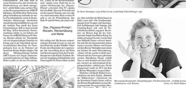 """""""Glück ist ihr Rezept"""" – Artikel in der Psychiatriezeitung Eppendorfer"""