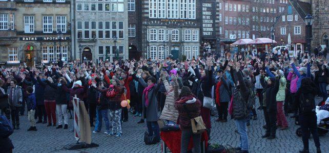 One Billion Rising Bremen zum 7. Mal am 14.02. 19 auf dem Bremer Marktplatz